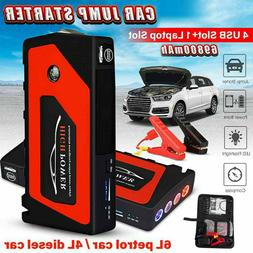 12V 69800mAh Portable Car Jump Starter 4-USB Power Booster B
