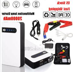12V Portable 20000mAh Car Jump Starter Pack Booster Battery