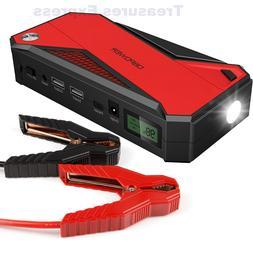 DBPOWER 600A 18000mAh Portable Car Jump Starter Battery Boos
