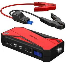600a 18000mah portable car jump starter up