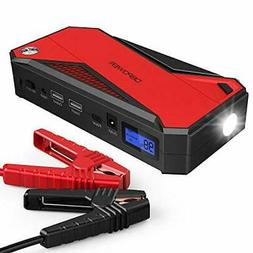 DBPOWER 800A 18000mAh Portable Car Jump Starter up to 7.2L G