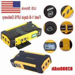 82800mAh 4USB LCD Display Car Jump Starter Emergency Booster