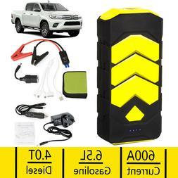 89800mAh Heavy Duty 600A Car Jump Starter Booster USB Batter