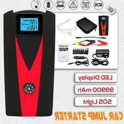 99900mAh 12V Car Jump Starter Booster 2 USB Charger Battery