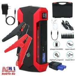 Car Jump Starter 1000A Peak 20000mAh 12V Portable Charger wi