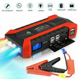 Car Jump Starter 20000mAh Portable Charger Power Bank with L