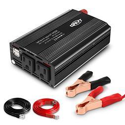 Tvird Car Power Inverter, 500W Power Inverter,1000W Surge Po