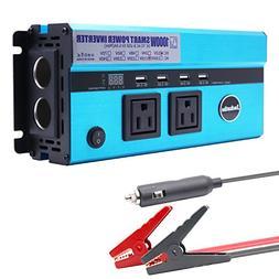 500W Car Power Inverter, Jacknthe DC 12V to 110V AC Digital