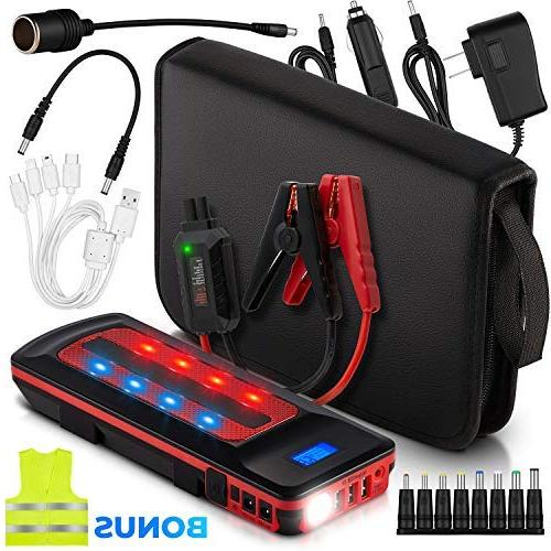 1000a peak 21600mah car jump starter battery