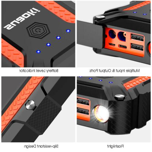 12000 Portable Jump Starter Auto Battery Bank