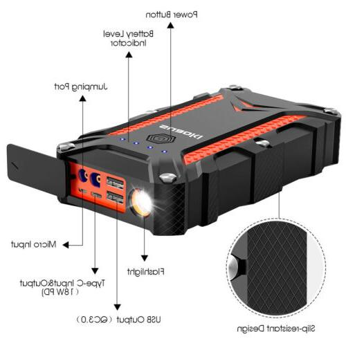 12000 mAh Portable Starter Auto Power Bank