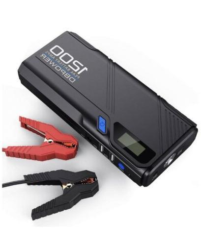DBPOWER Car Car Battery & Charger, Portable Charger Built-in LED Flashlight