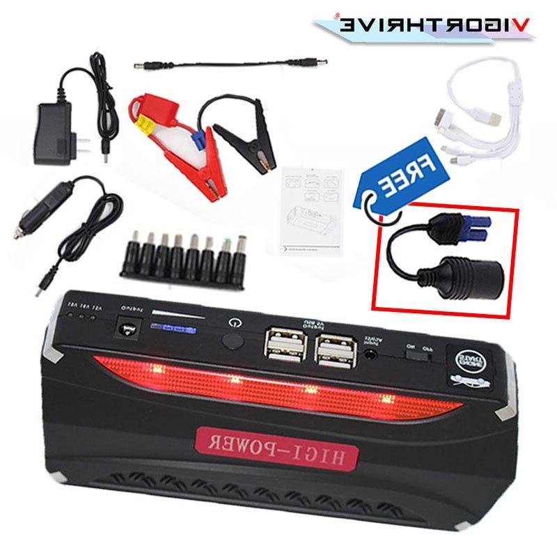12V Car <font><b>Jump</b></font> LED Portable Power Battery <font><b>Charger</b></font> <font><b>Charger</b></font> Starting Device