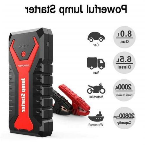 20800mah 12v car jump starter portable power