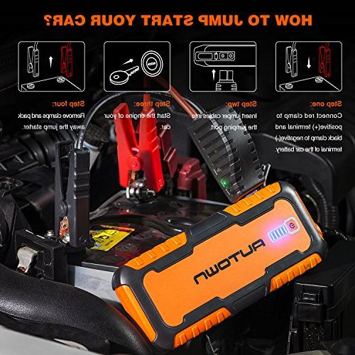 AUTOWN 1000A Portable Car - 12V Booster Power Pack with Bank Jump