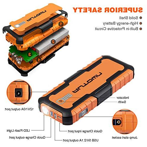 AUTOWN 21000mAh Portable Jump Starter - 12V Booster with LED Bank Jump