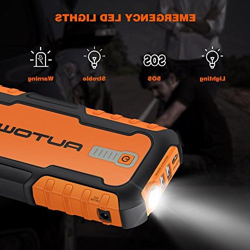 AUTOWN Portable Car - Auto Booster Power with Power Bank & Jump Pack