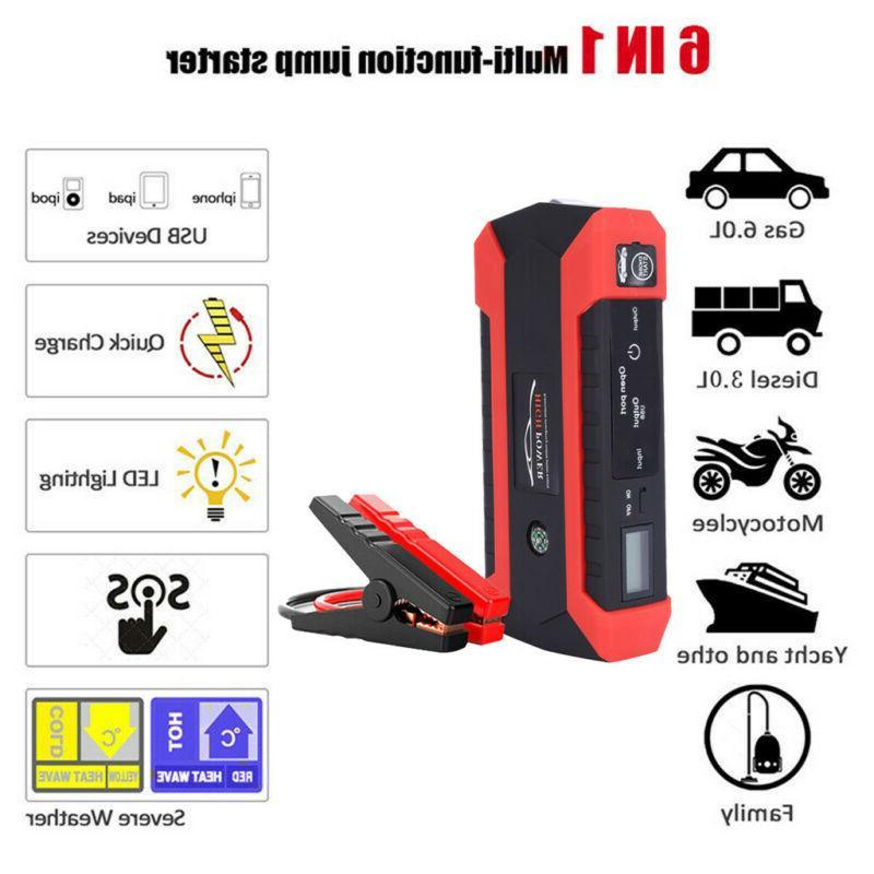6 1 Multi-function 1000A Car Jump Portable Pack