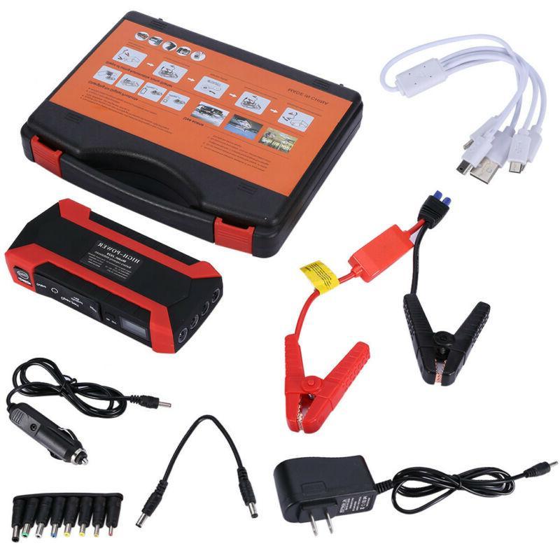 6 1000A 12V Jump Starter Portable Pack