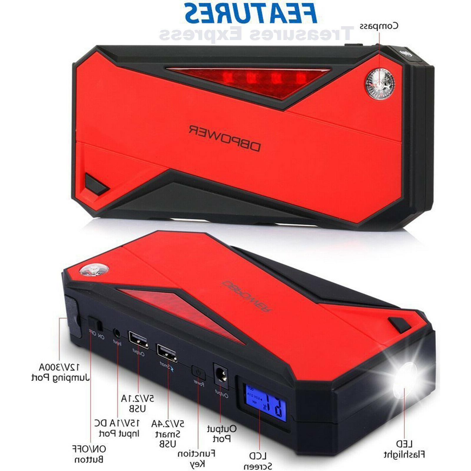 DBPOWER 600A 18000mAh Portable Car Battery