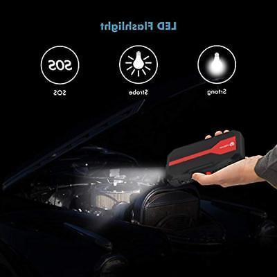 IClever 600A Batteries Accessories Peak Portable Jump Starter 5L 3L