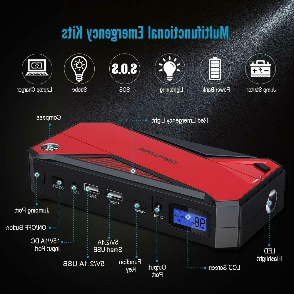 DBPOWER 800A Car Starter And 18000mAh Power Charger