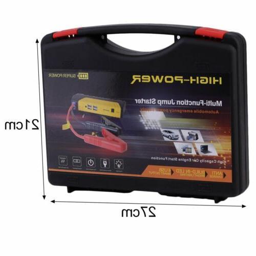 68800mAh 4USB Jump Starter Power Rechargable Battery HM