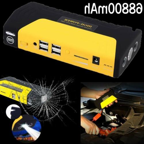 68800mAh Car Jump Emergency Bank Battery 3LED