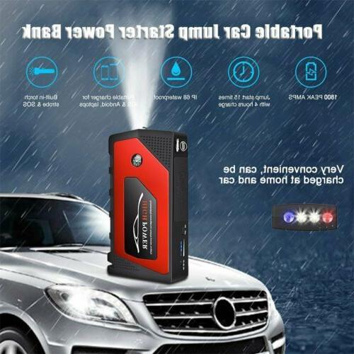 69800mAh 12V Starter Portable Bank Battery Booster 600A