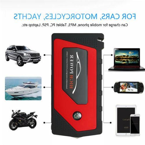 69800mAh 12V Car Starter USB 600A