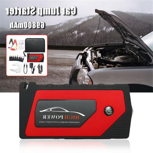 69800mAh 12V Car Jump Starter Portable Power Bank Battery 600A