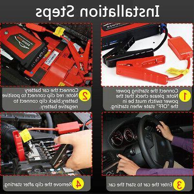 69800mAh Car Starter Portable USB Battery Box US