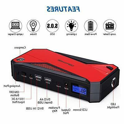 DBPOWER 800A 18000mAh Portable Car up to Diesel