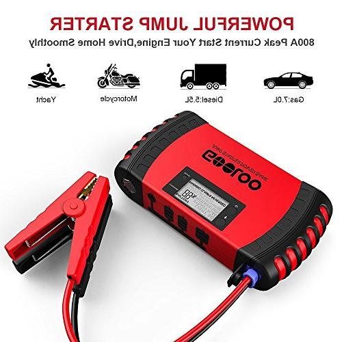 GOOLOO Car Booster Pack, LED and Protection