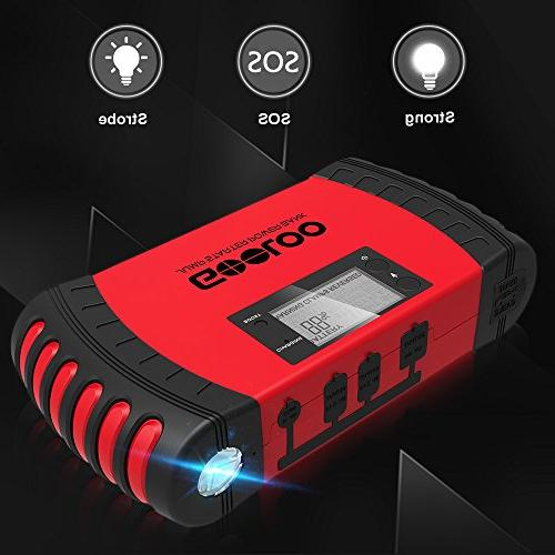 GOOLOO 800A Car Jump Starter Phone Charger Booster Power Pack, LED Light