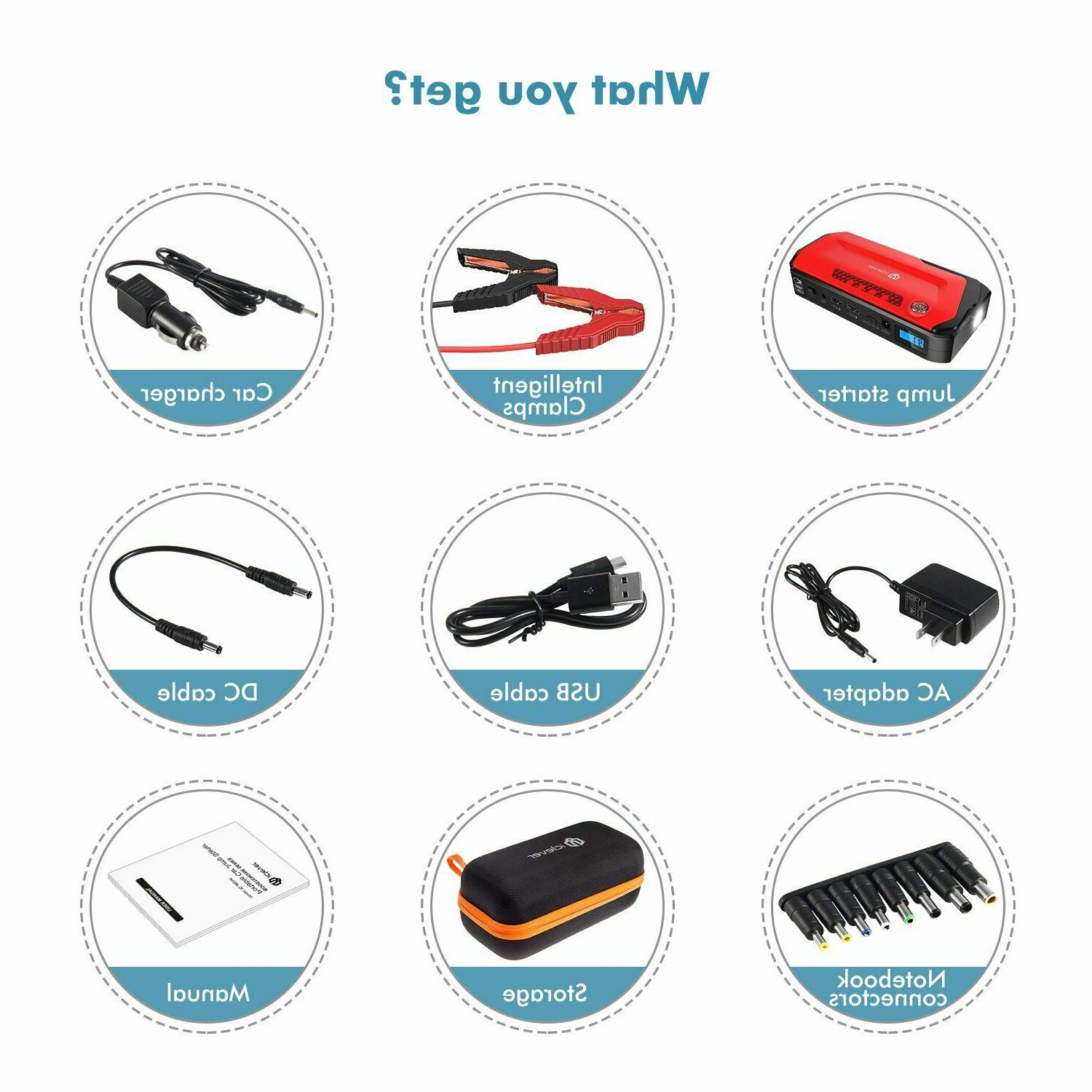 iClever Peak Portable Auto Battery Booster