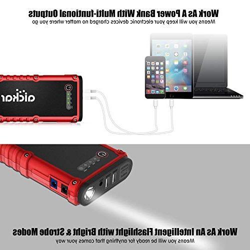 aickar Jump Starter Portable Battery Jump Starter, Bank, with Heavy Duty