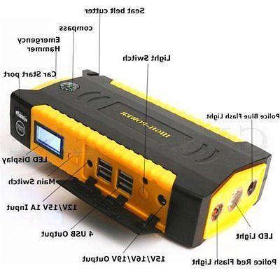 82800mAh 4USB LCD Display Car Booster