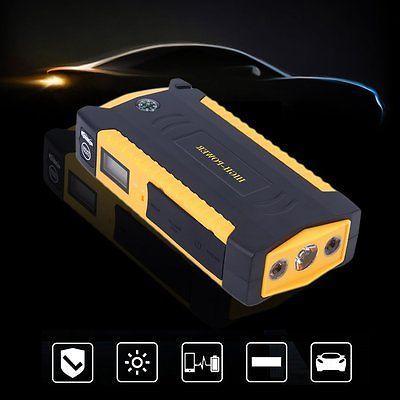 82800mAh LCD Car Jump Starter Booster Bank