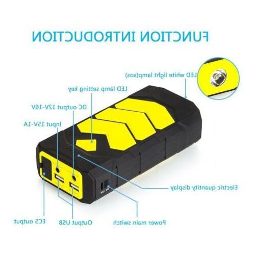 89800mAh Car Starter USB Charger Bank