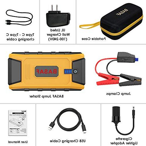 1200A Peak,12V Portable Pack Type-C In/Out USB Quick Charge