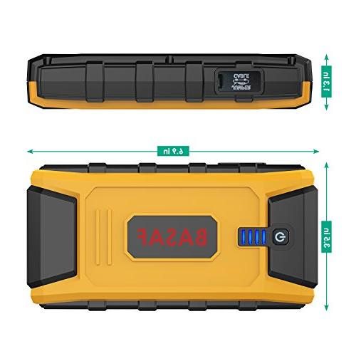 BASAF Car Jump 1200A Type-C USB Quick Charge Ports