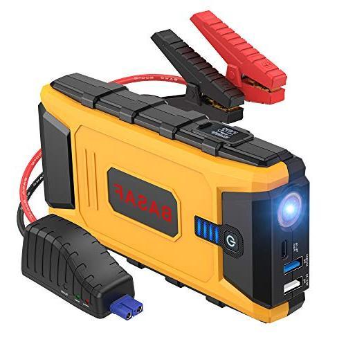 BASAF Car Jump Starter 1200A Peak,12V Portable Battery Pack