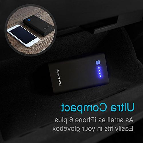 DBPOWER Portable Car Jump , Auto Battery Phone with Type-C LED with 3 Modes