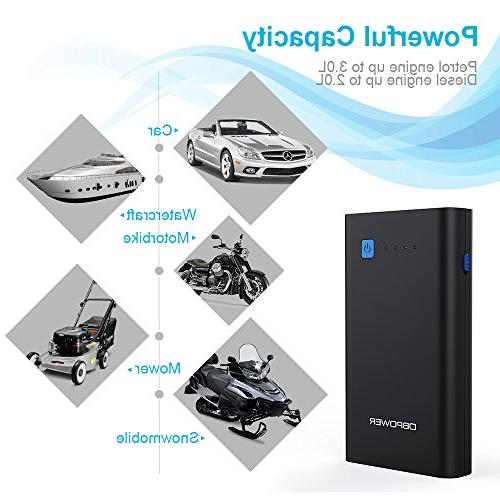 DBPOWER 500A 10800mAh Car Jump Auto Booster, Portable Phone Type-C Output,
