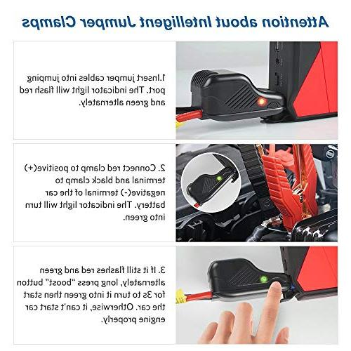 Car Jump Starter Battery Booster with Smart