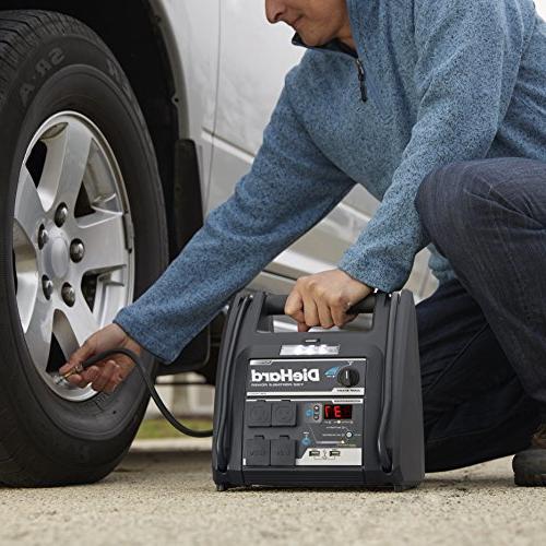 DieHard 71688 1150 Volt Starter & Power Source with 2-12V 2-110V 100 Air