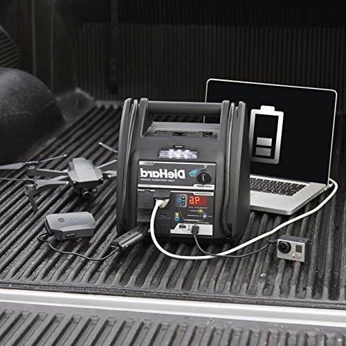 DieHard 71688 Platinum 1150 Peak Amp Volt Jump & Power Source with 2-12V 2-110V Ports & 100 Auto Air