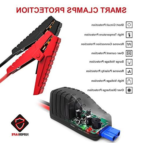 GOOLOO 600A Peak SuperSafe Car Jump Starter Portable Power Battery with Quick 3.0 Input Built in