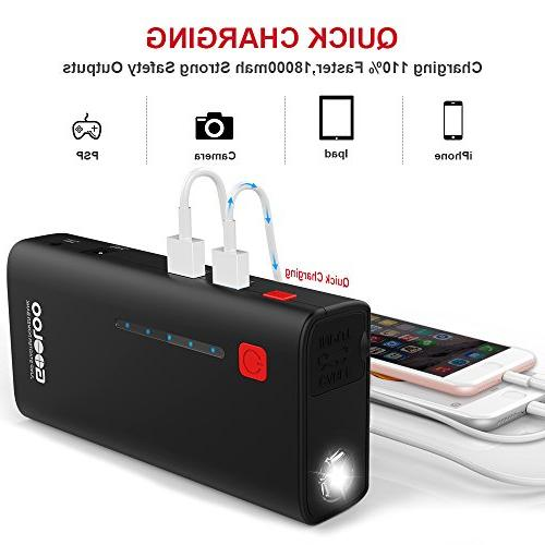 GOOLOO 800A SuperSafe Car Jump Power Pack Auto Booster Charger LED